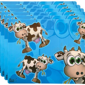 Bella The Cow – Set of 6 plastic placemats