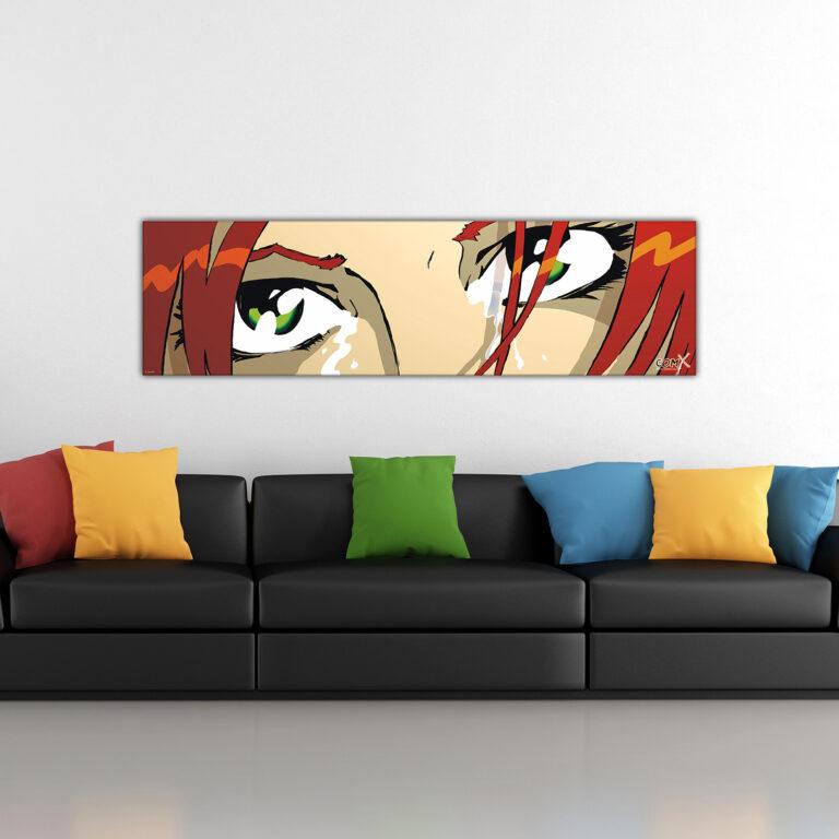 Black Sofa - The Eyes - Light Brown - Green