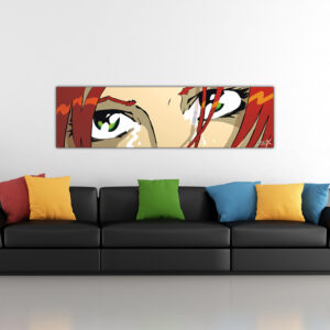 The Eyes – Brown Green Wall Art