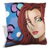 Flower Girl Blue throw pillow